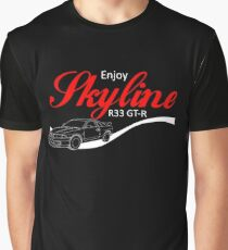 Enjoy Skyline R33 GT-R Grafik T-Shirt