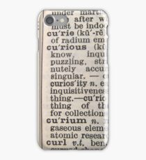 curious text iphone/ipod case iPhone Case/Skin