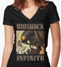 Bioshock infinite cool bird Women's Fitted V-Neck T-Shirt