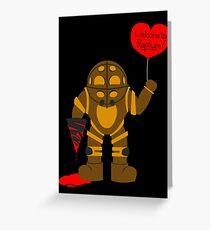Bigdaddy welcome to rapture Bioshock Greeting Card