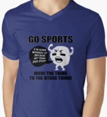 GO SPORTS! Move the thing to the other thing Men's V-Neck T-Shirt