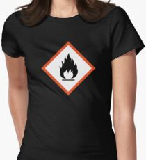 extremely flammable Womens Fitted T-Shirt
