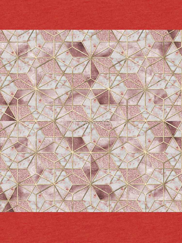 Modernes Rosengoldgeometrisches Sternblumenmuster von InovArtS