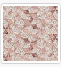 Modern rose gold geometric star flower pattern  Sticker