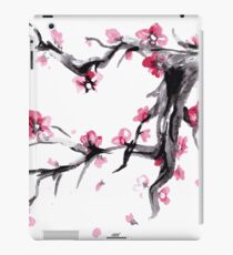 Watercolor Spring blossoms - japanese symbol iPad Case/Skin