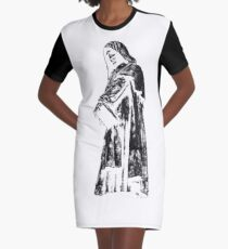 Rome - Giordano Bruno Graphic T-Shirt Dress