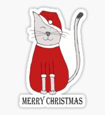 cute cat illustration christmas Sticker