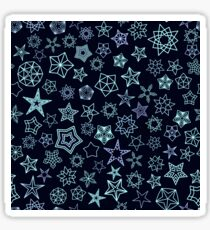 Stars Pattern from silver starry elements Sticker