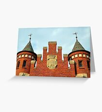 Old Market Hall with a Coat of Arms of Bydgoszcz, Poland Greeting Card
