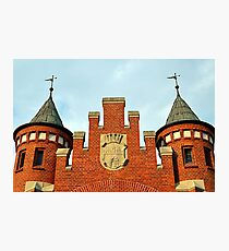 Old Market Hall with a Coat of Arms of Bydgoszcz, Poland Photographic Print