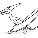 Cartoon Pterodactyl by Chris Jackson
