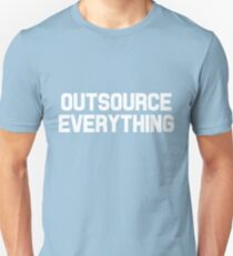 Outsource Everything Funny International Business Boss  T-Shirt