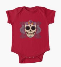 Vintage Skull and Roses One Piece - Short Sleeve