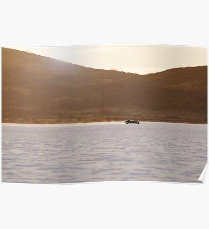 Ford Hot Rod on the salt at full throttle Poster