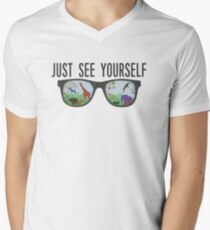 JUST SEE YOURSELF  Men's V-Neck T-Shirt