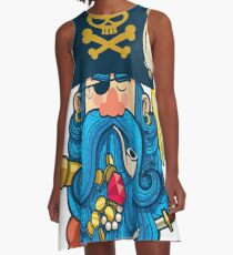 Pirate Portrait A-Line Dress
