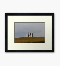 only one house on the hill Framed Print
