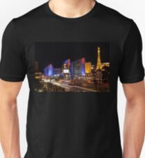 Sparkling Las Vegas Neon - Zooming Along the Strip T-Shirt