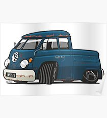 VW T1 Transporter crew cab personalized Poster