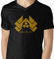 NAKATOMI Men's V-Neck T-Shirt