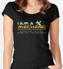 Diesel Mechanic Women's Fitted Scoop T-Shirt