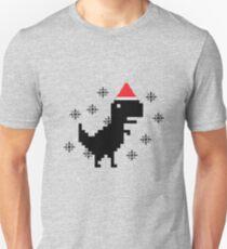 Christmas Pixel Dinosaur  Unisex T-Shirt