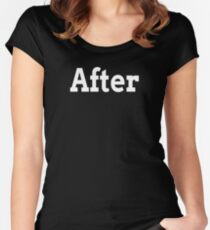 BEFORE AFTER TRANSFORMATION FAMILY GYM WORKOUT Women's Fitted Scoop T-Shirt