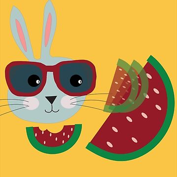 Hungry hipster bunny by Elbas