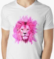 Pink Lion Men's V-Neck T-Shirt