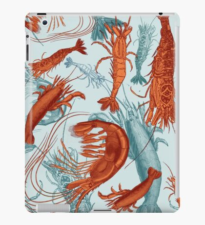 Shrimp - Orange and Turquoise iPad Case/Skin