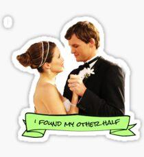 brooke julian i found my other half sticker Sticker