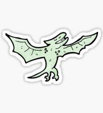 flying dinosaur cartoon Sticker