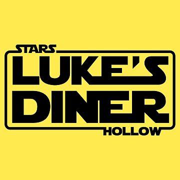 Stars Hollow: Luke's Diner (Black) by Paulychilds