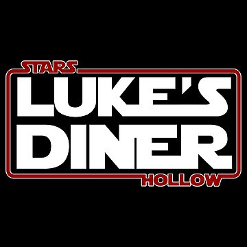 Stars Hollow: Luke's Diner (Red Border) by Paulychilds