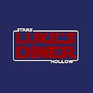 Stars Hollow: Luke's Diner (White Border) by Paulychilds