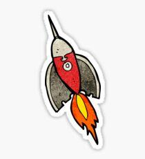 rocket cartoon Sticker