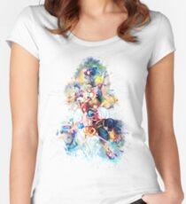 Kingdom Hearts Family Women's Fitted Scoop T-Shirt