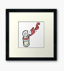 canned food cartoon Framed Print