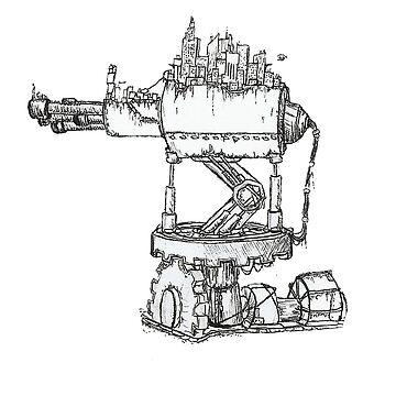 Steampunk City by Steampoweredfox