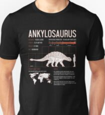 Ankylosaurus Dinosaur Facts Mens Womens Kids Science Unisex T-Shirt