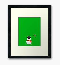 Christmas Penguin - Snowman Framed Print