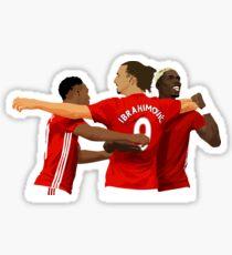 Pegatina Anthony Martial, Ibrahimovic y Paul Pogba - Manchester United FC