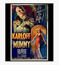 Mummy Boris Karloff Movie Vintage Poster Photographic Print