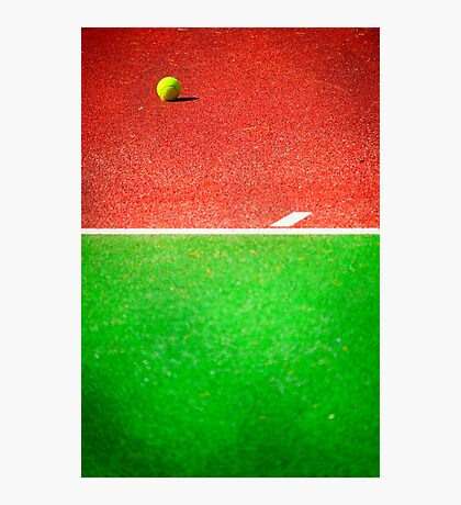 Yellow tennis ball Photographic Print