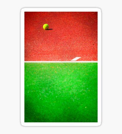 Yellow tennis ball Sticker