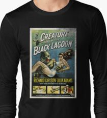 Creature From The Black Lagoon Vintage Poster Long Sleeve T-Shirt