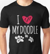 I love my doodle Unisex T-Shirt