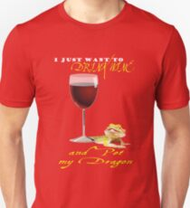 Drink Wine Pet My Bearded Dragon Unisex T-Shirt