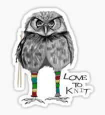 Love to knit Sticker