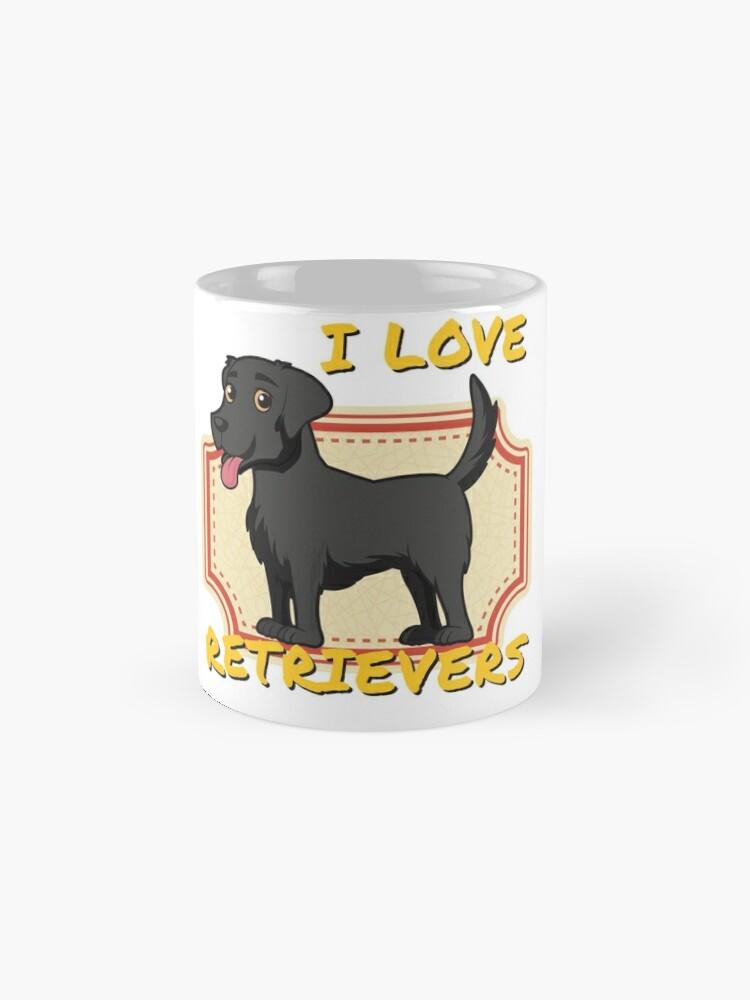 Vista alternativa de Taza clásica Me encantan los perros perdigueros - Black Labrador Retriever
